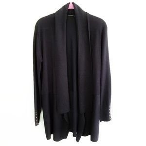 {Tahari}Dark Blue Long Sleeve Cardigan SZ Large